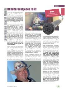 DJ Rudi Zeitungsbericht
